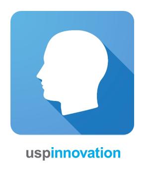 Bilde av et hvitt hode på en blå bakgrunn. For å eksemplifisere at målgruppen er viktig ved effektiv merkevarebygging