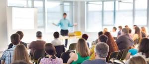 Foredrag i sal